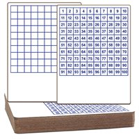 "Hundreds Dry-Erase Boards - Class Pack of 12 - 9""X12"""