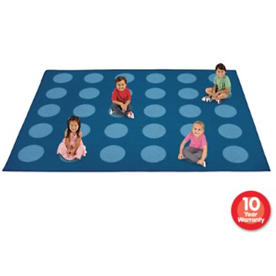 A Spot for Everyone - Classroom Carpet For 30- Blue