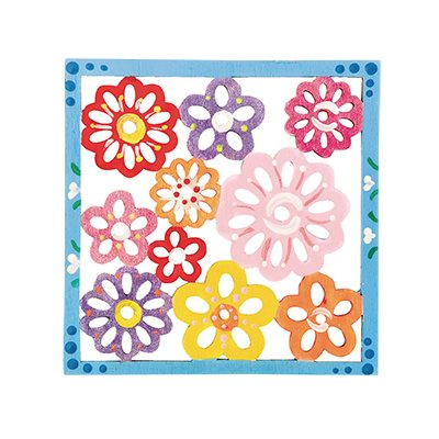 Floral Wood Trivet-Pack of 12