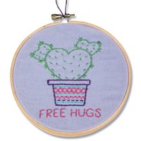Cactus Hugs Embroidery