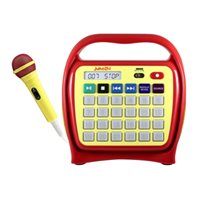 HamiltonBuhl™ Juke24™ - Portable, Digital Jukebox with CD Player and Karaoke Function - Red / Yellow