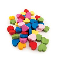Heart Beads - Pack of 125