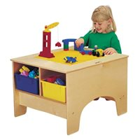 Jonti-Craft® KYDZ Building Table - Duplo® Compatible - with Clear Tubs