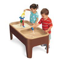 Toddler 2-Station Sand & Water Table-Natural Colours