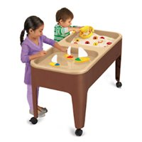 Preschool 2-Station Sand & Water Table-Natural Colours