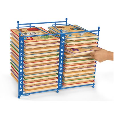 Alphabet Puzzles Storage Rack