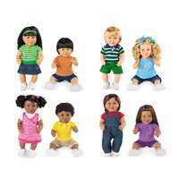 Multi-Ethnic School Doll Set