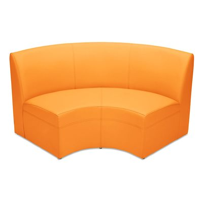 Flex-Space Lounge & Learn Curved Couch-Orange