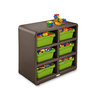 Outdoor 6-Cubby Storage Unit