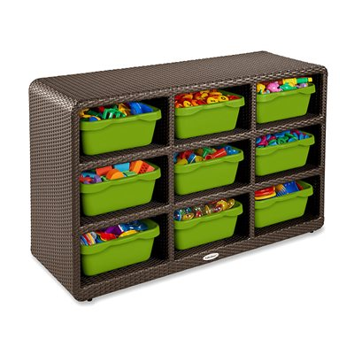 Outdoor 9-Cubby Storage Unit
