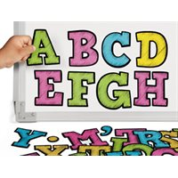 Colourful Chalk Magnetic Letters