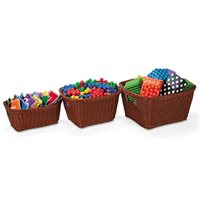 Dishwasher-Safe Plastic Baskets-Large-Basket-Dark Brown