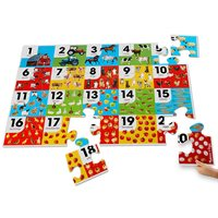 Farm Number Photo Floor Puzzle