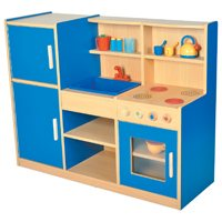 4-in-1 Play Kitchen - Blue