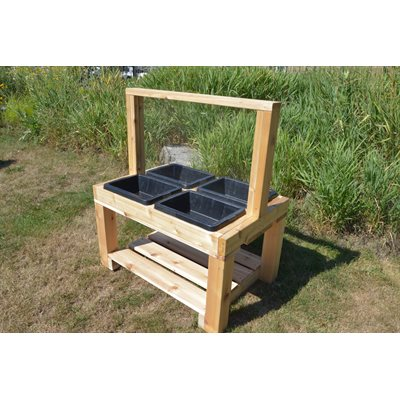 4 Bin Sensory Table with Social Distancing divider