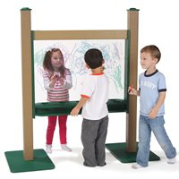 "44"" Wide Portable Paint Panel - 10 cup holders"