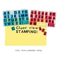 Clear-View Uppercase Alphabet Stamps