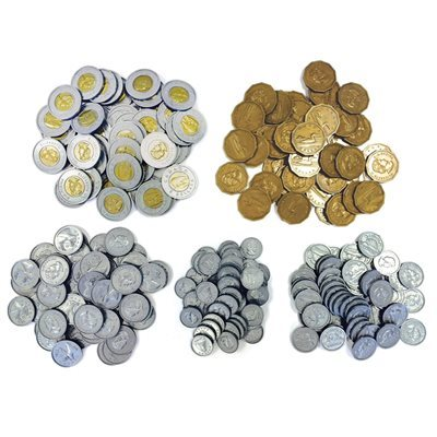 D- Canadian Play Coins - NICKELS - Set of 100