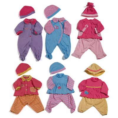 Doll Outfits-Set of 12