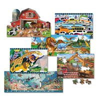 D-Melissa & Doug 6pc Assorted Floor Puzzle Set
