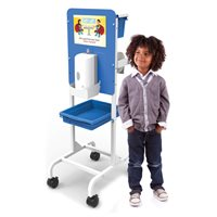 Single Student Hand Sanitizer Station - Premium Model - Dispenser Sold Separately