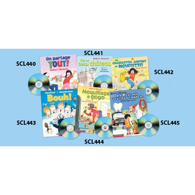 Robert Munsch French Read-Along Set