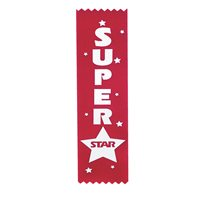 Superstar Award Ribbons - Pack of 12