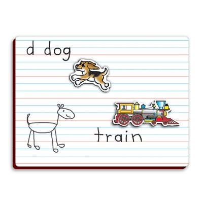 Lined Magnetic Dry-Erase Board