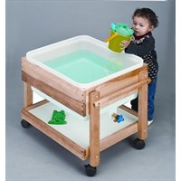 Small Hardwood Sand & Water Table
