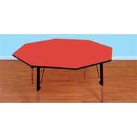 "Octagon Table 48"" - Red"