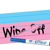 Write & Wipe Lined White Sentence Strips