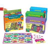 Math Facts Folder Game Libraries - Set of 4