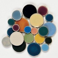 Round Tile - Assorted Colours - 1 Lb