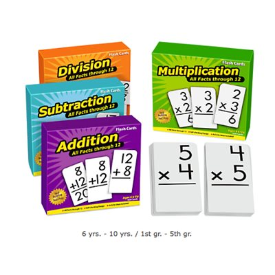 All Facts Math Flash Cards- Complete Set