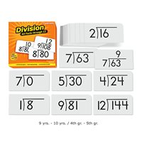 All Facts Math Flash Cards- Division