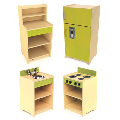 Tots Appliances With Standard Hutch- Set of 4