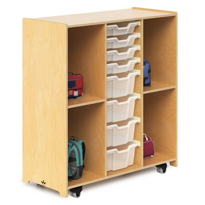 Mobile Backpack And Tray Cabinet