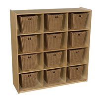 12 Big Cubby Storage with Medium Baskets