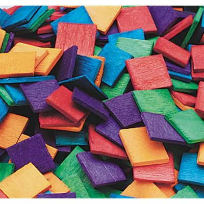 "1 / 2"" Square Wood Mosaics- Pack of 1000 - Assorted Colours"