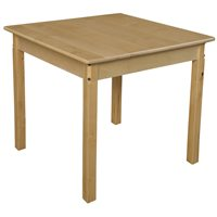 "30"" Square Hardwood Table- With 26"" Legs"