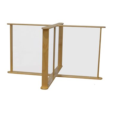 "45.75"" x 45.75"" Sneeze Guard Table Partition"