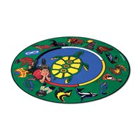 Aboriginal Storytelling Carpet - 6' Round
