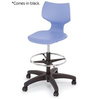 "Flavours Adjustable Stool - Casters 22-32"" h-Black"