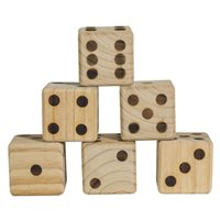 Jumbo Wood Dice - Set of 6