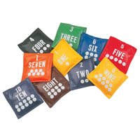 Vinyl Bean Bag Numbers - Set of 10