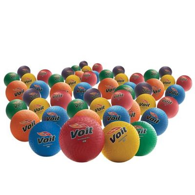 Voit® 8.5 In. Rainbow Playground Balls- Set Of 48