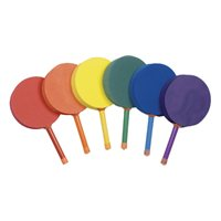 "Lollipop Paddles - 7"" Handle - SET OF 6"
