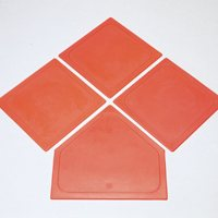 Oversize Safe Bases - Set / 4 Orange