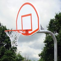 "Gared Steel Backboard / Goal / 4-1 / 2"" Post"