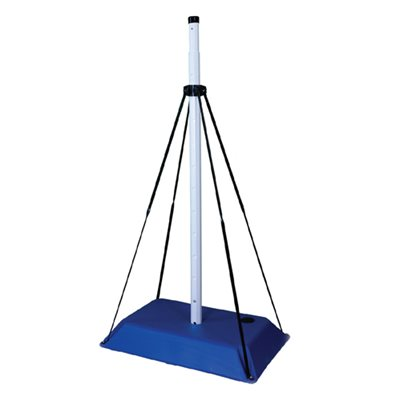 8' Telescopic Blue Base Pole w / 4 Supports